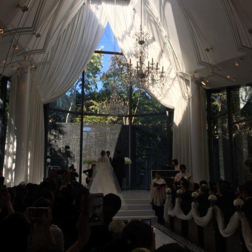 6月に成婚退会した会員さんの結婚式へ